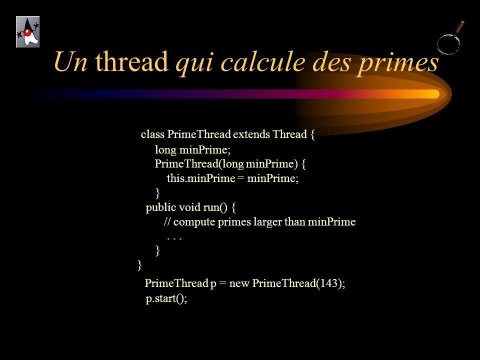 Un thread qui calcule des primes