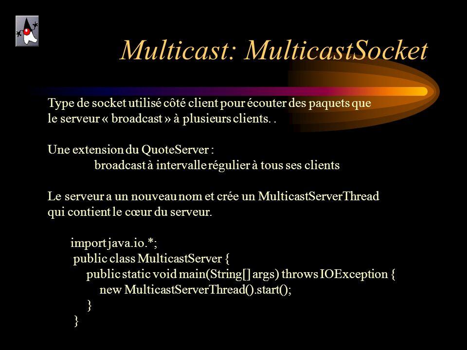 Multicast: MulticastSocket