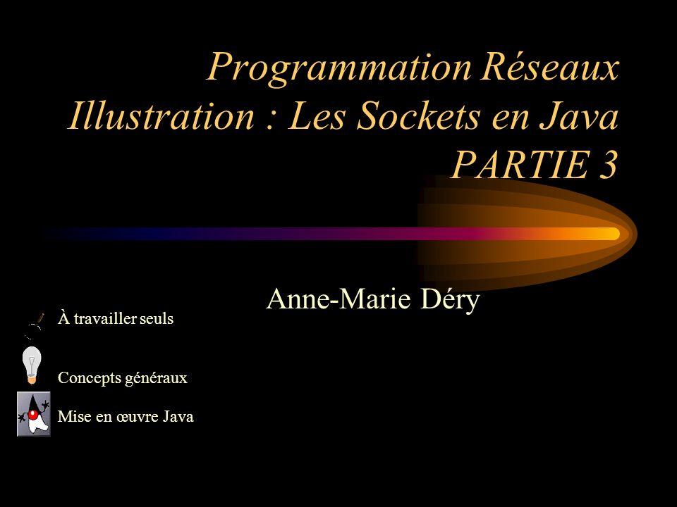 Programmation Réseaux Illustration : Les Sockets en Java PARTIE 3
