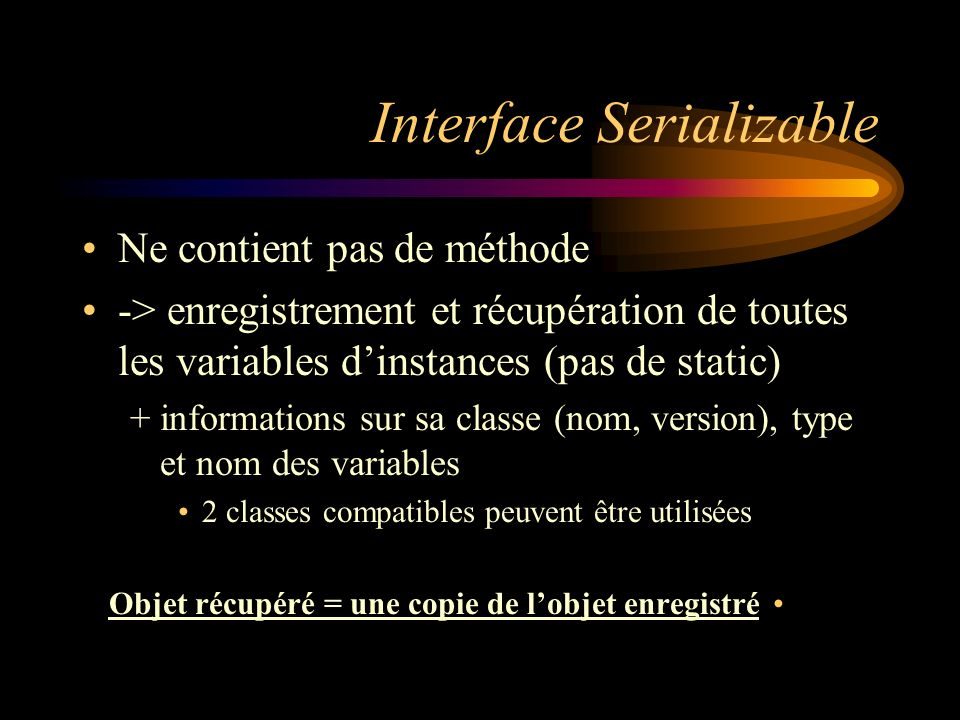 Interface Serializable