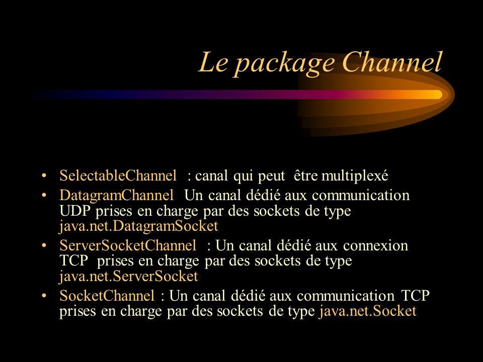 Le package Channel SelectableChannel : canal qui peut être multiplexé