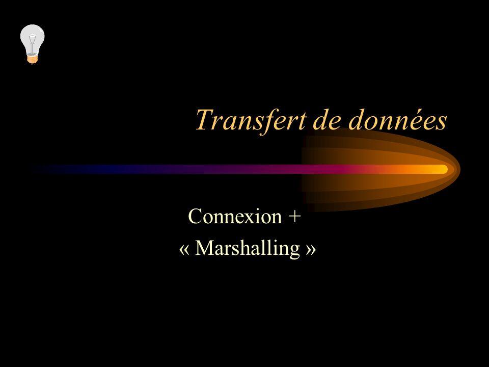 Connexion + « Marshalling »