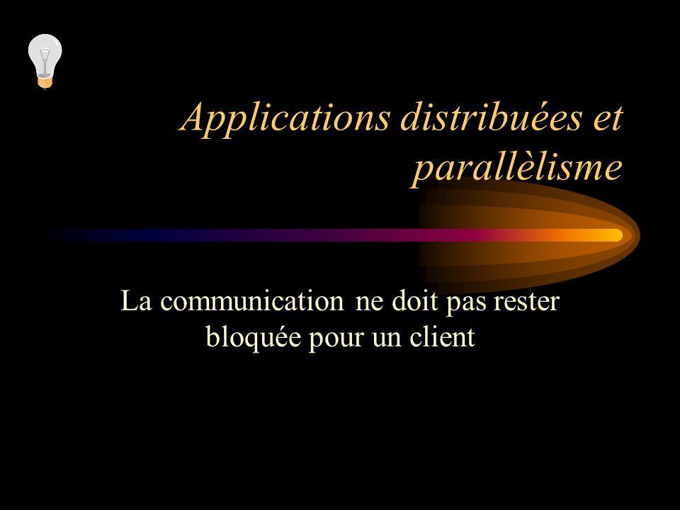 Applications distribuées et parallèlisme