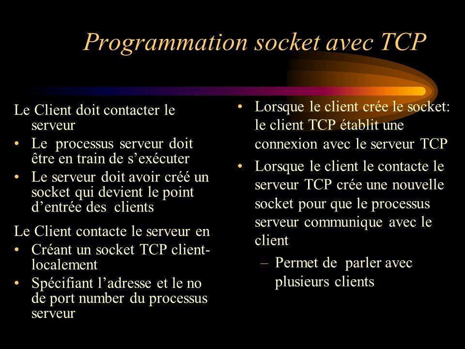 Programmation socket avec TCP
