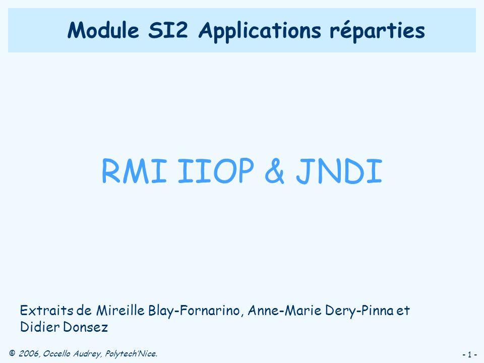 Module SI2 Applications réparties