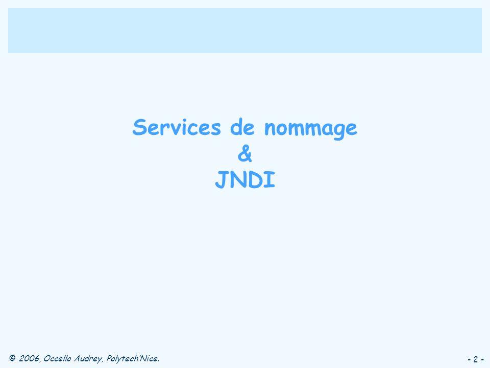 Services de nommage & JNDI