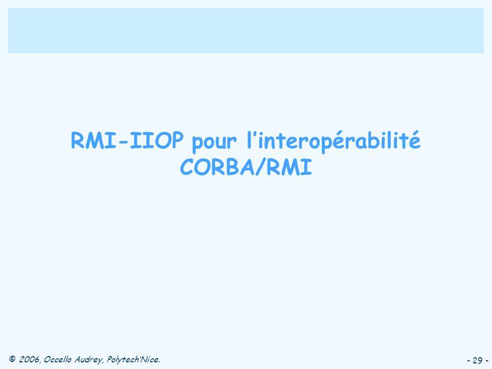 RMI-IIOP pour l'interopérabilité CORBA/RMI