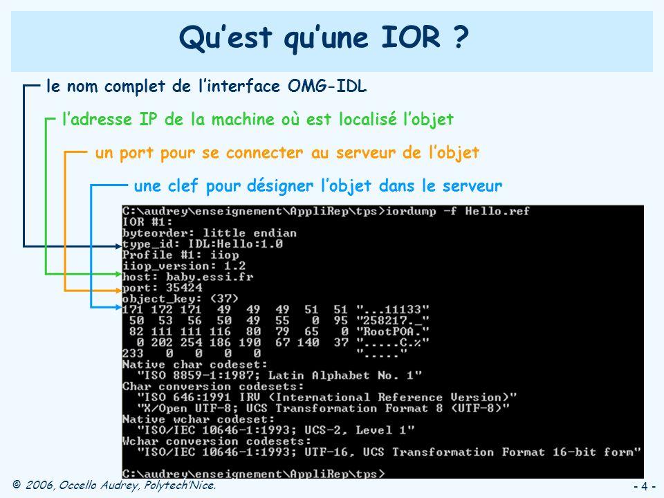 Qu'est qu'une IOR le nom complet de l'interface OMG-IDL