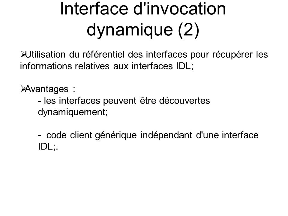 Interface d invocation dynamique (2)