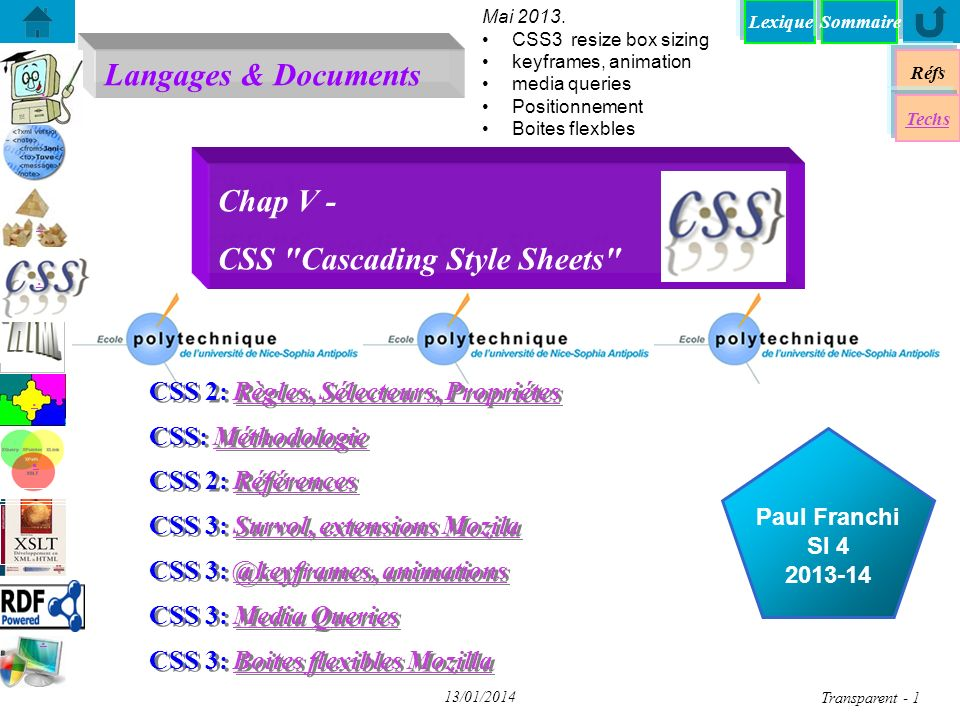 Chap V - CSS Cascading Style Sheets