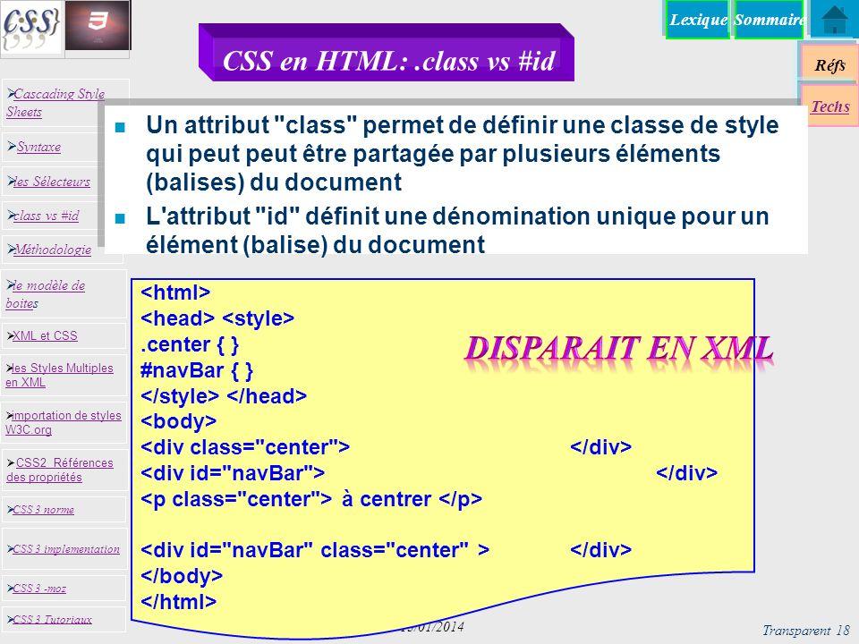 CSS en HTML: .class vs #id