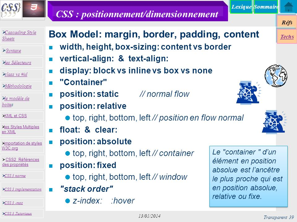 CSS : positionnement/dimensionnement