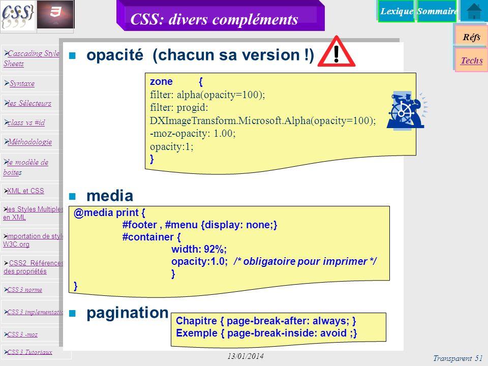 CSS: divers compléments