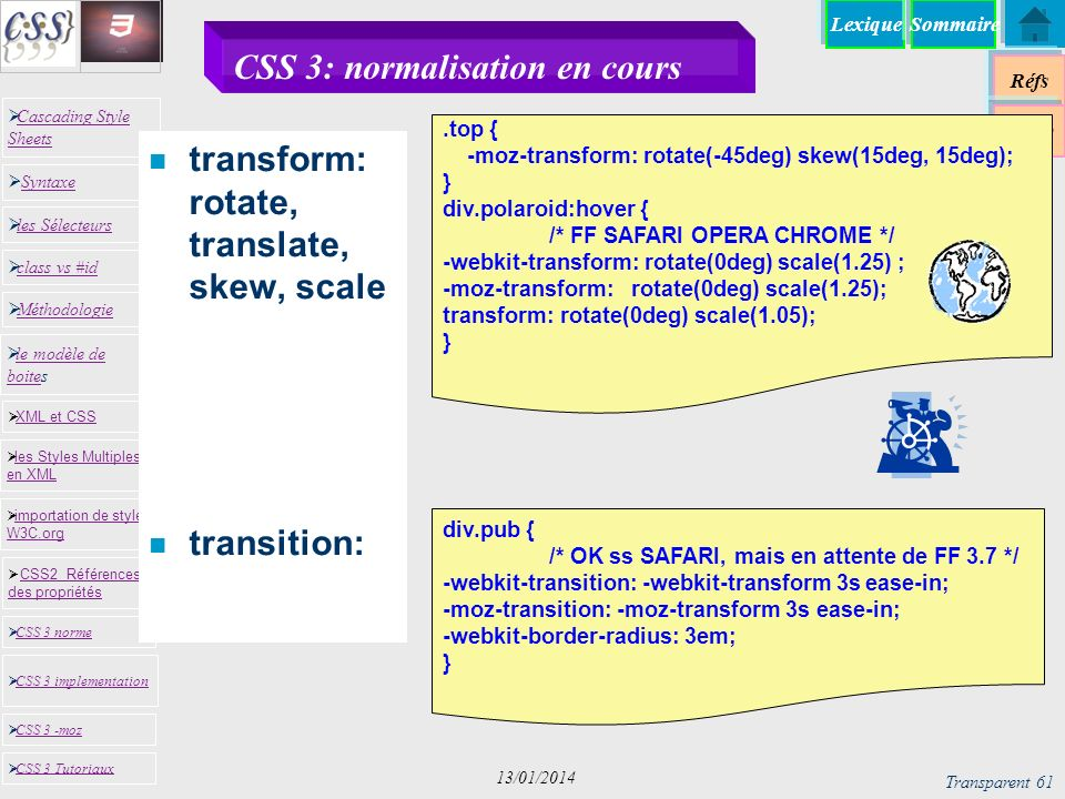 CSS 3: normalisation en cours