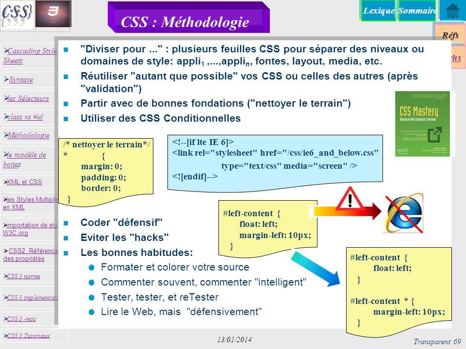26/03/2017 CSS : Méthodologie.