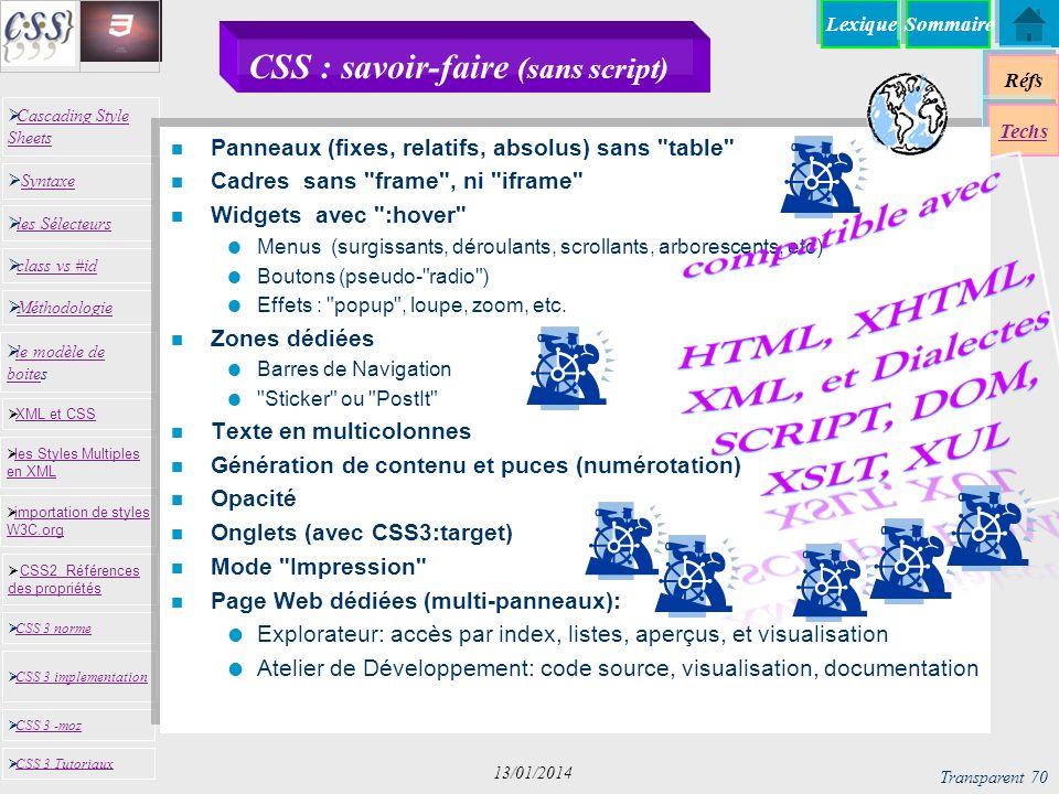 CSS : savoir-faire (sans script)