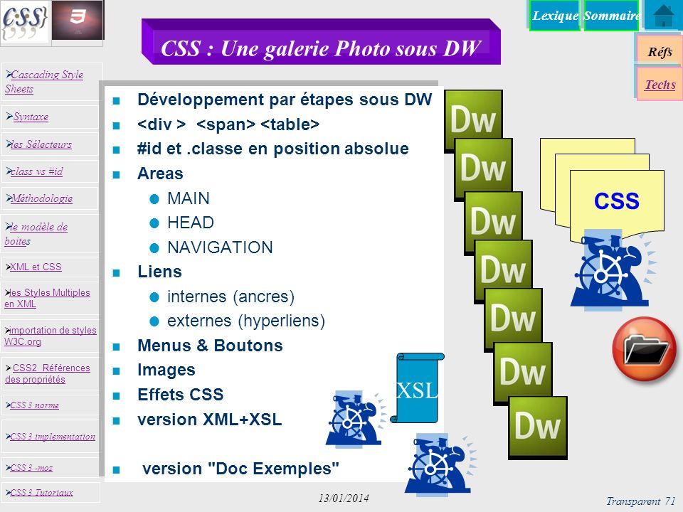 CSS : Une galerie Photo sous DW