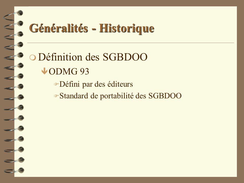 Généralités - Historique