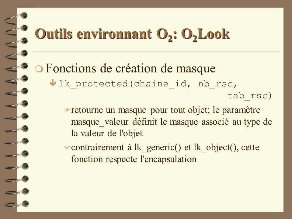 Outils environnant O2: O2Look