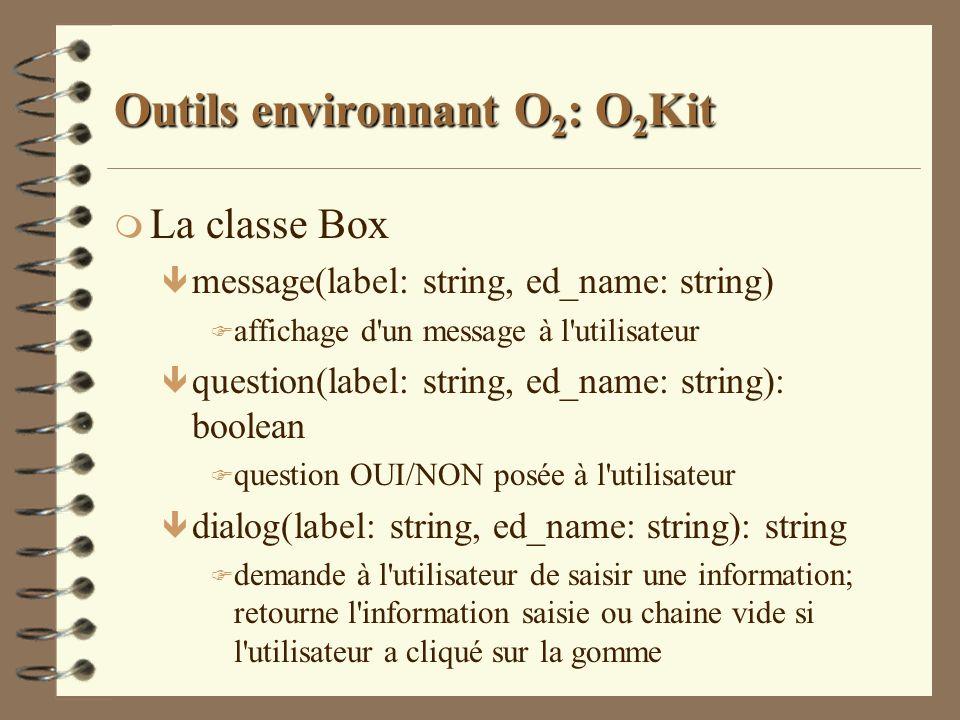Outils environnant O2: O2Kit