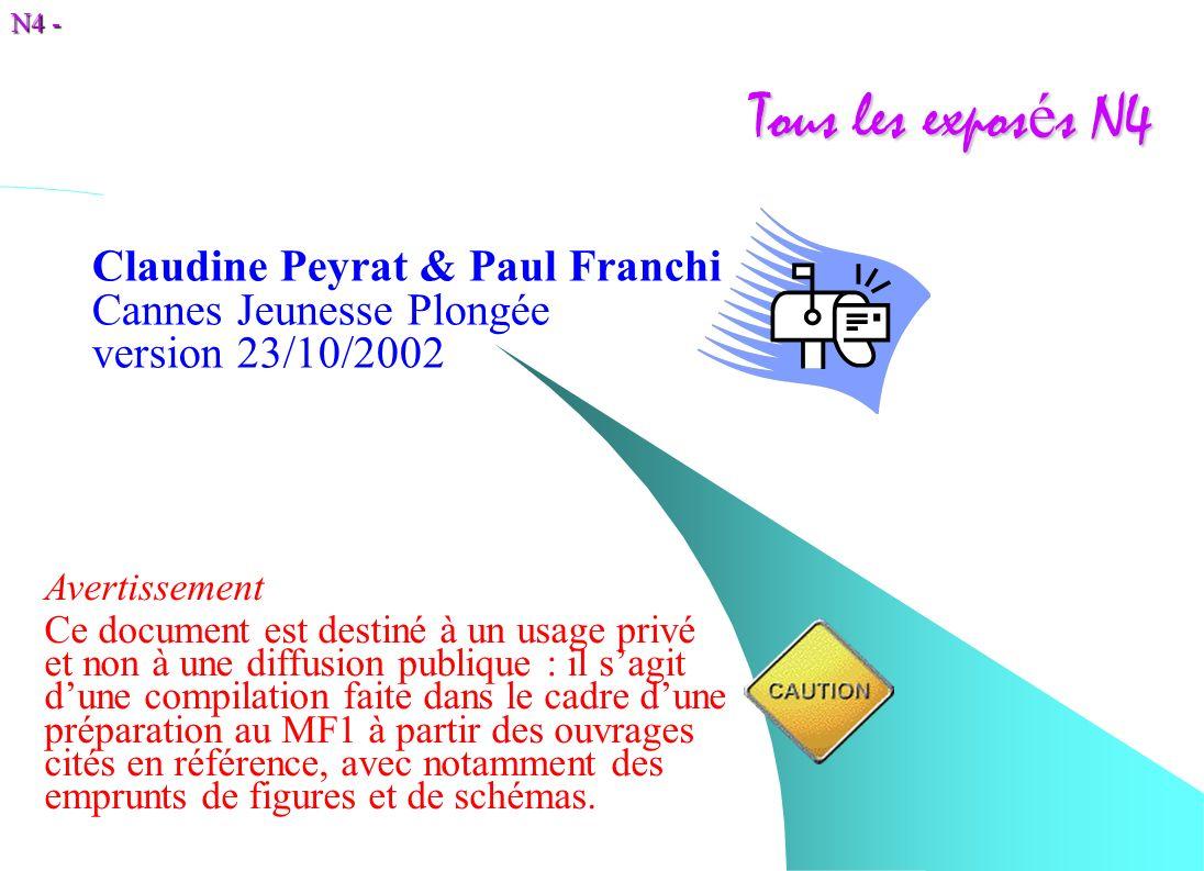 Tous les exposés N4 Claudine Peyrat & Paul Franchi