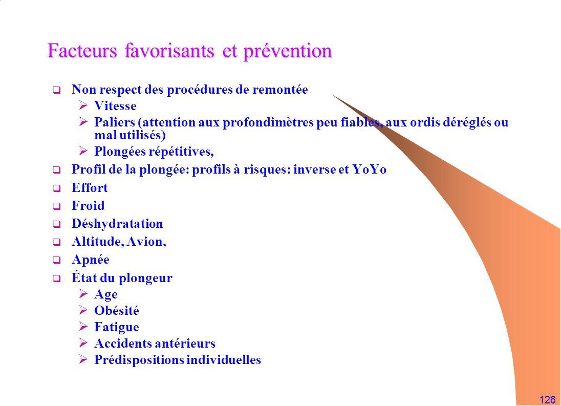 Facteurs favorisants et prévention