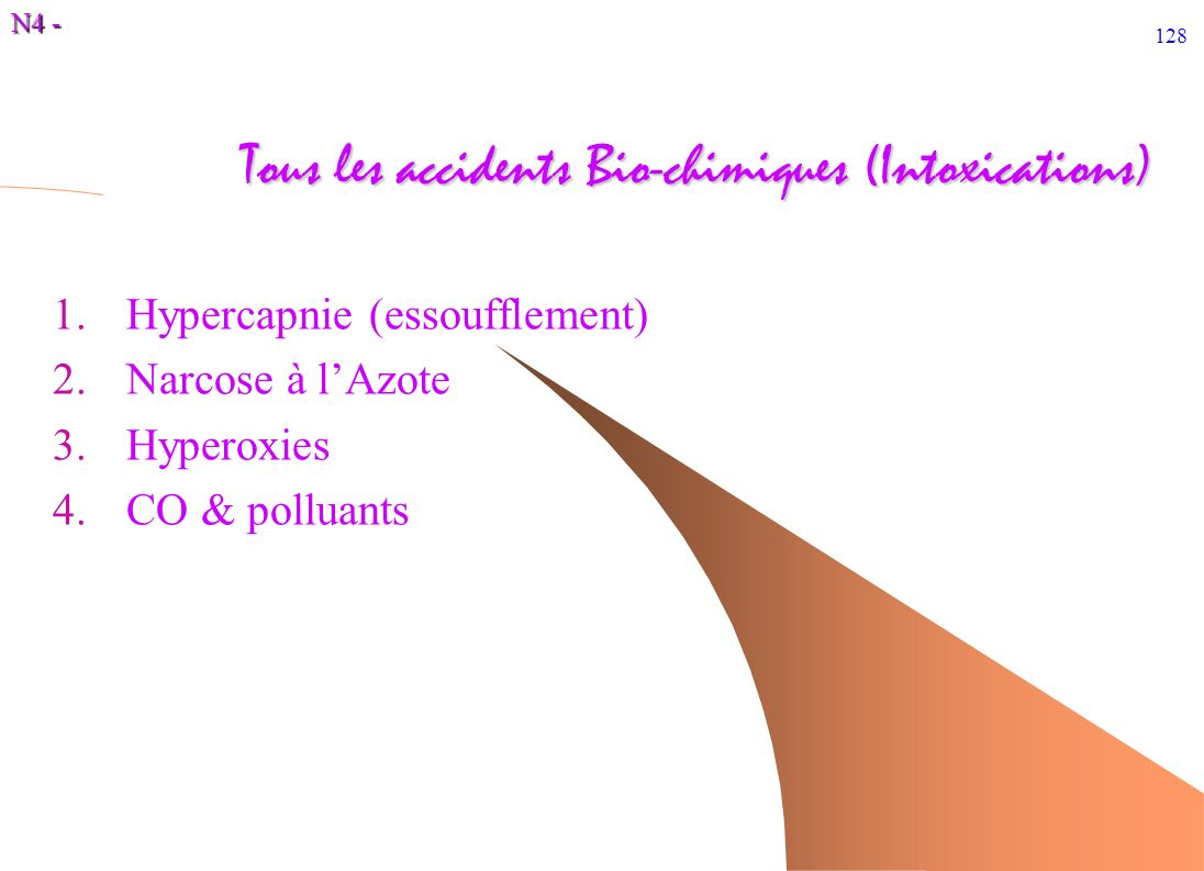 Tous les accidents Bio-chimiques (Intoxications)