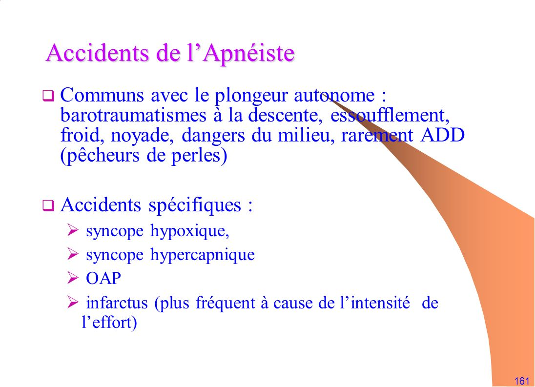Accidents de l'Apnéiste