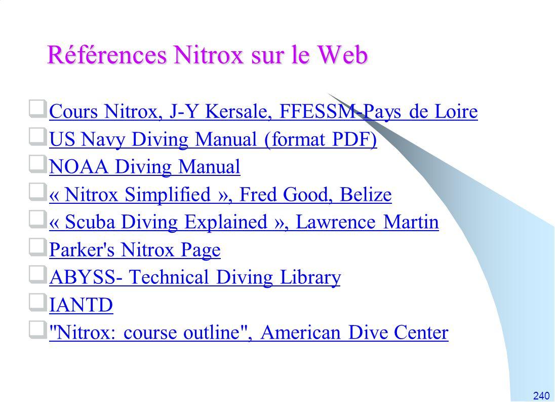 Références Nitrox sur le Web