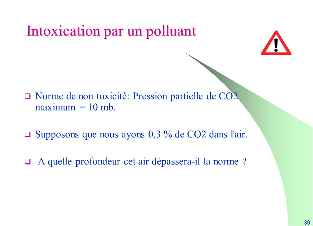 Intoxication par un polluant