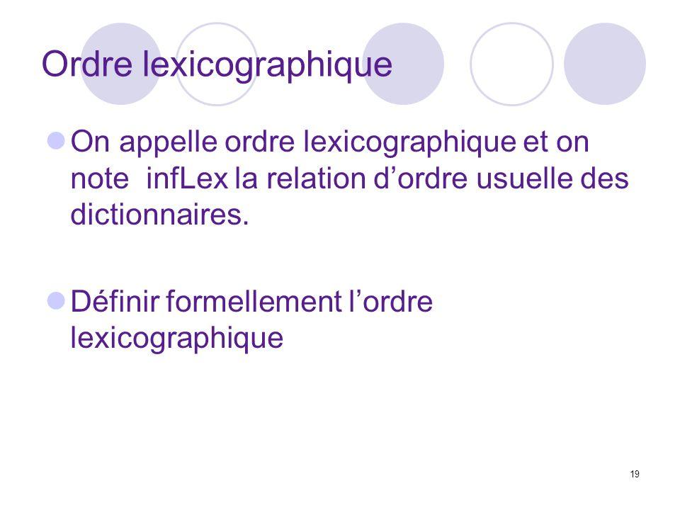 Ordre lexicographique