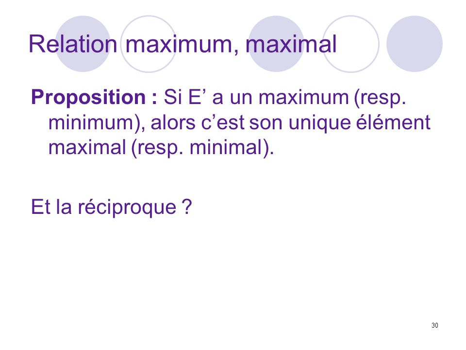 Relation maximum, maximal
