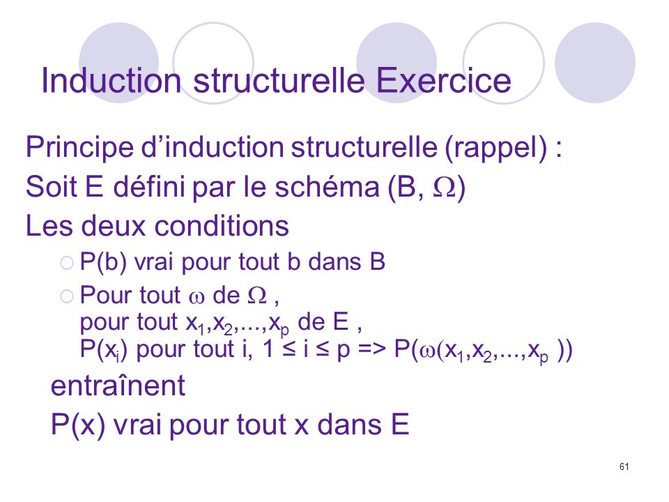 Induction structurelle Exercice