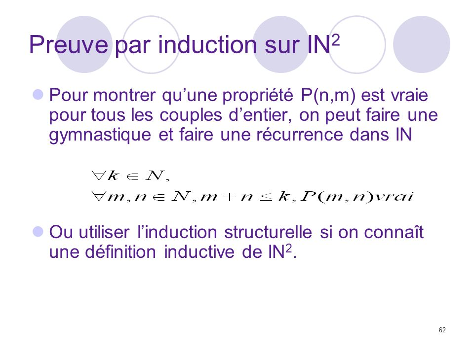 Preuve par induction sur IN2