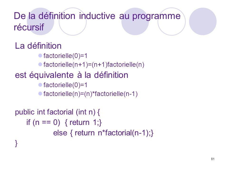De la définition inductive au programme récursif