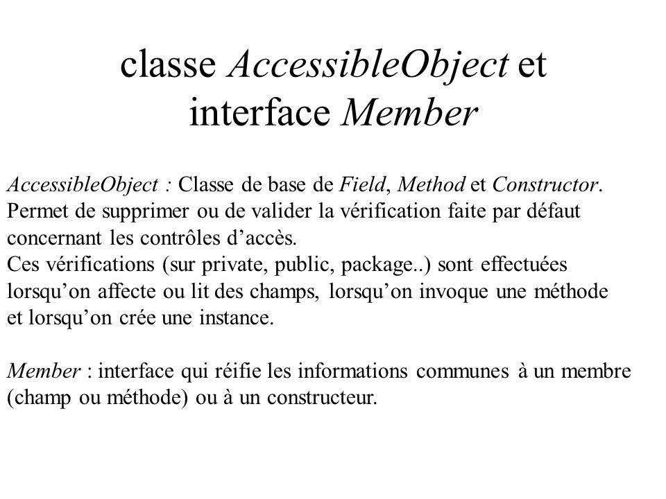 classe AccessibleObject et interface Member