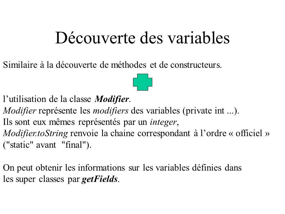 Découverte des variables