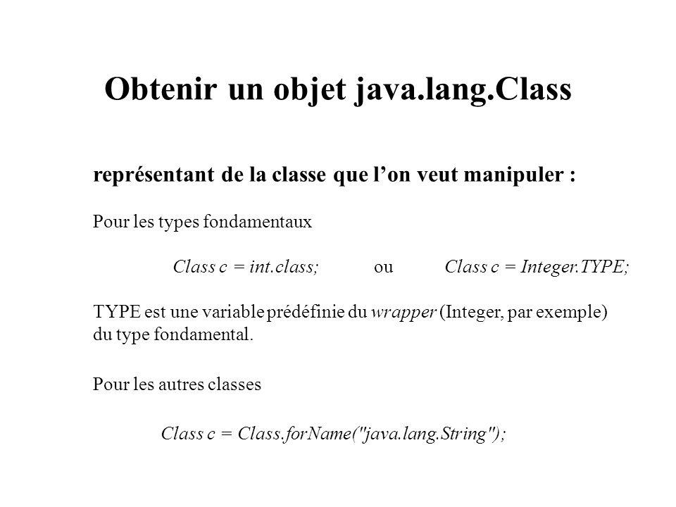 Obtenir un objet java.lang.Class