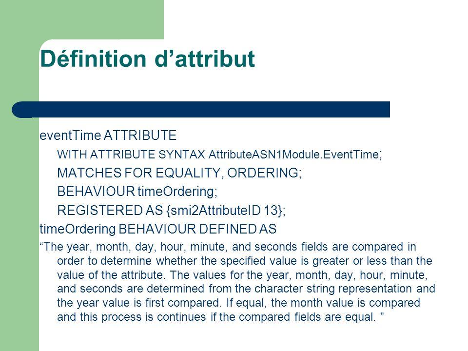 Définition d'attribut