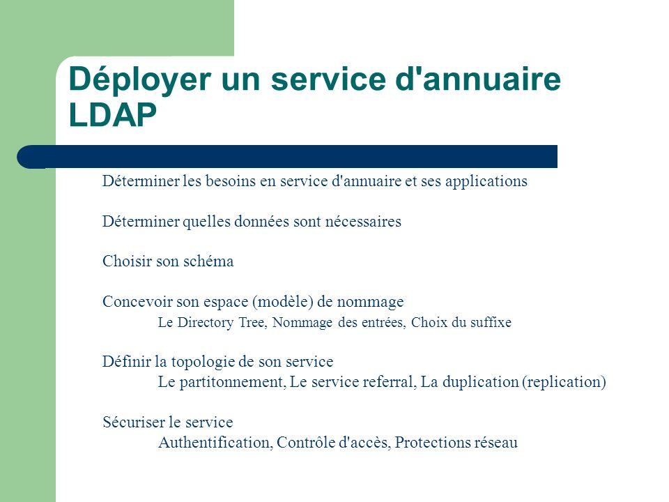 Déployer un service d annuaire LDAP