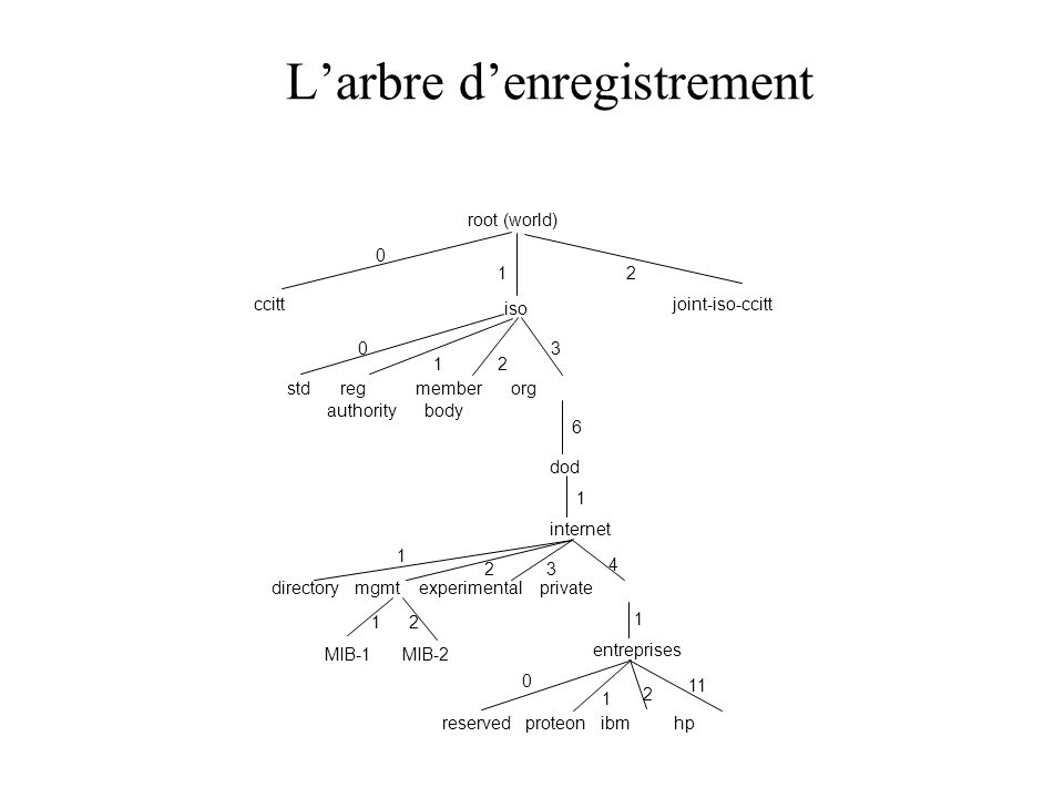 L'arbre d'enregistrement