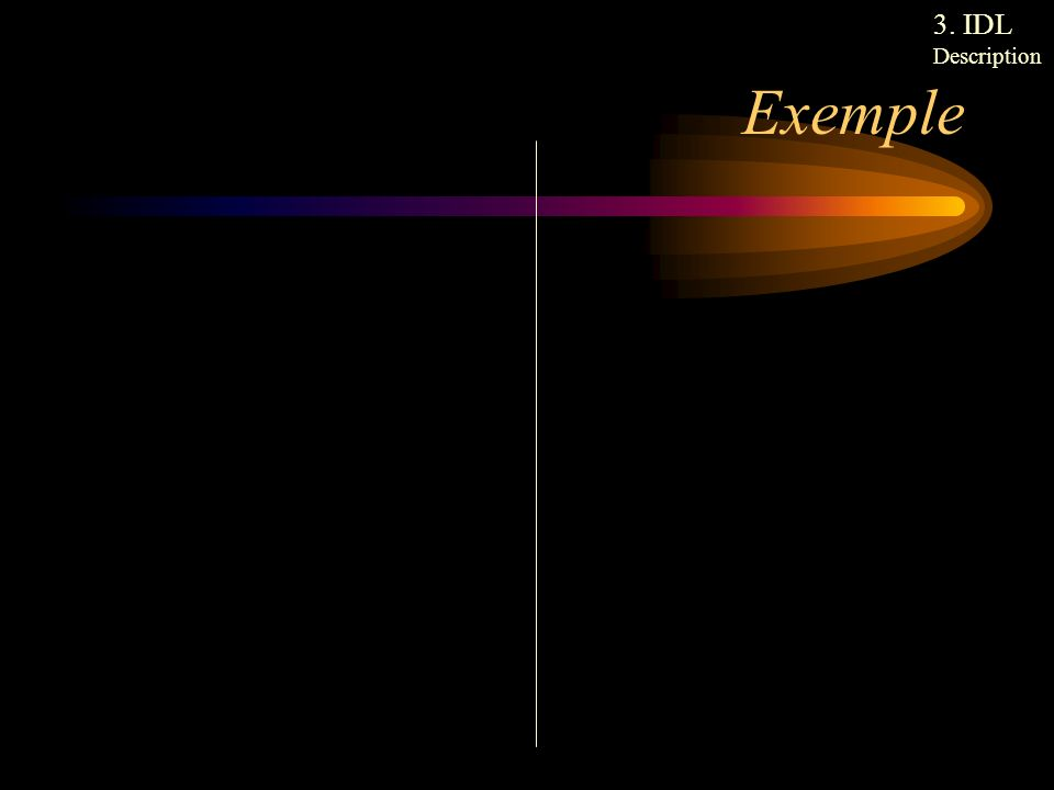 Exemple 3. IDL Description