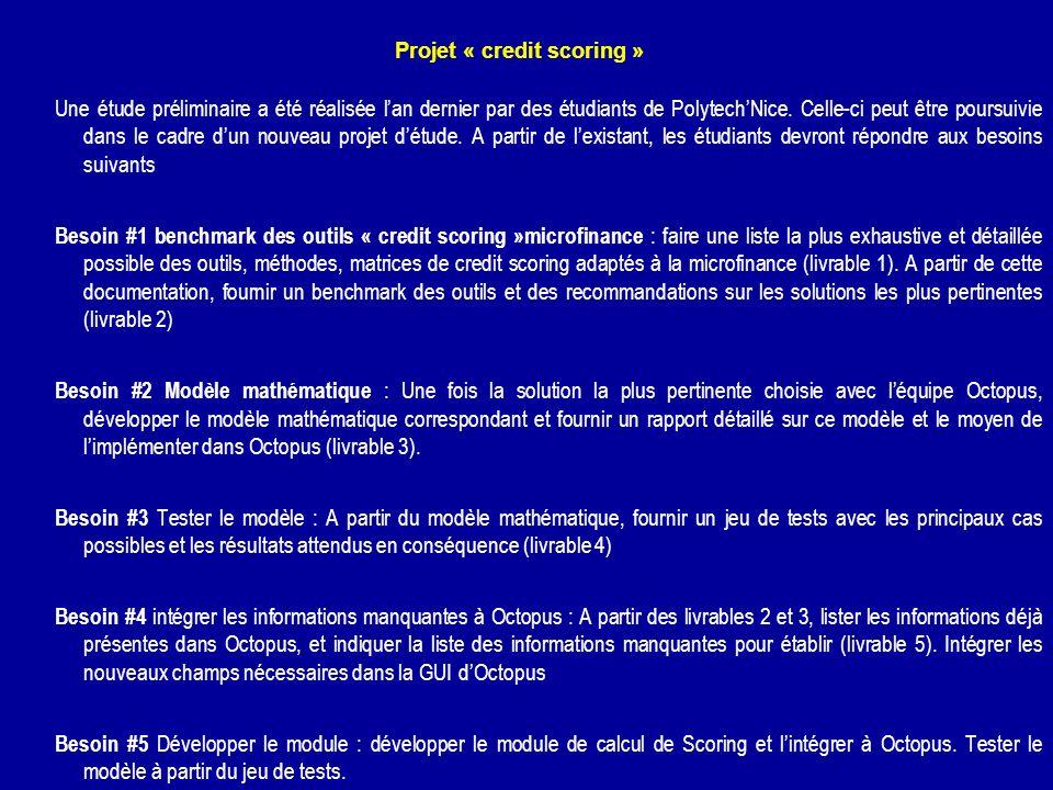 Projet « credit scoring »