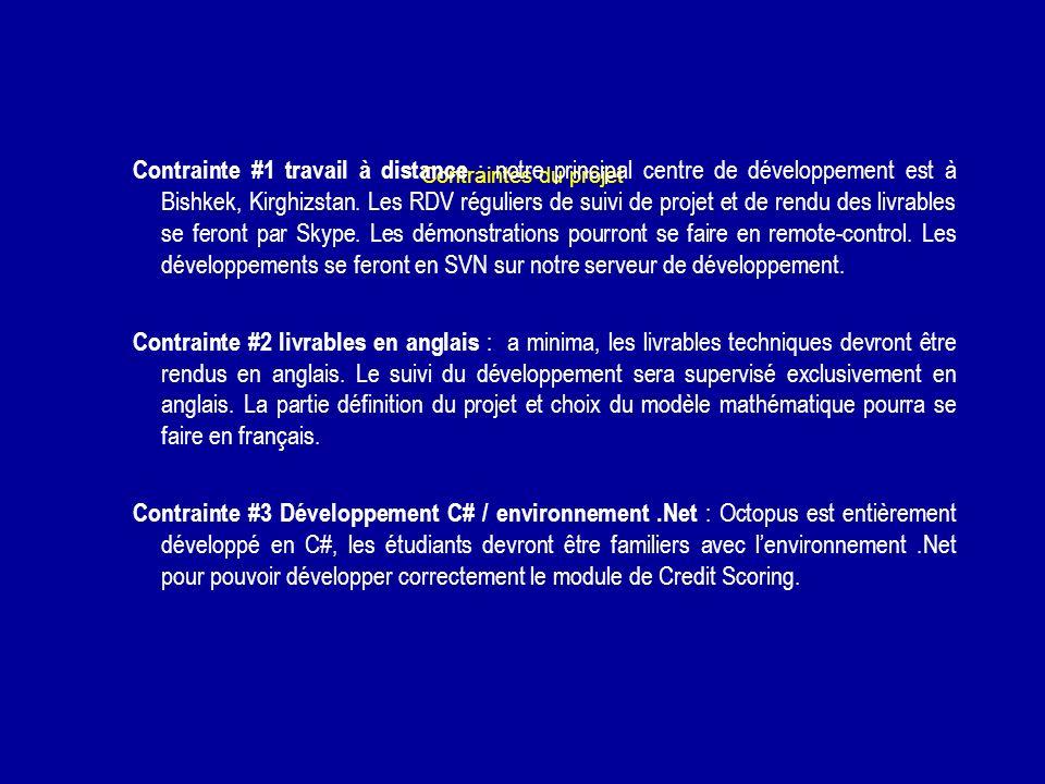 Contraintes du projet