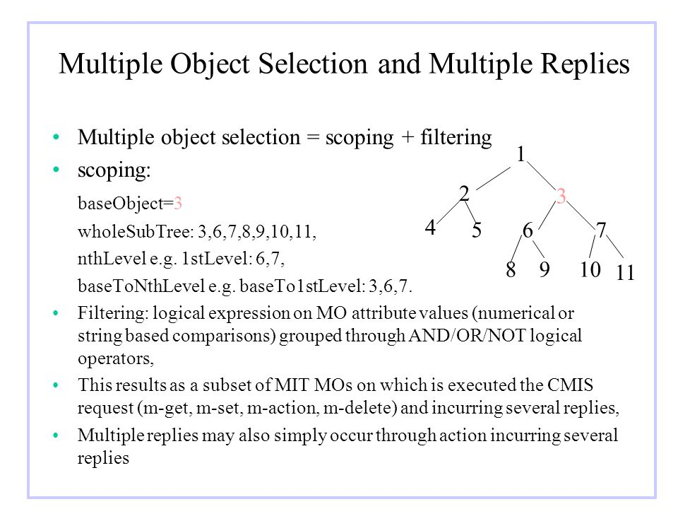 Multiple Object Selection and Multiple Replies