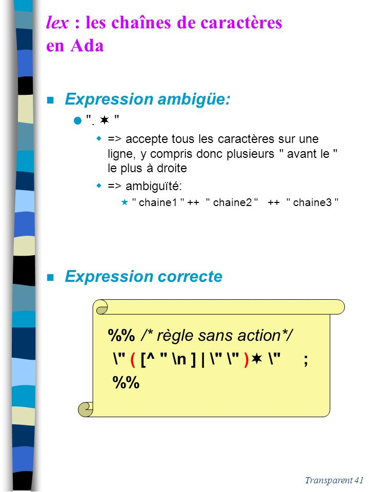 lex : les chaînes de caractères en Ada