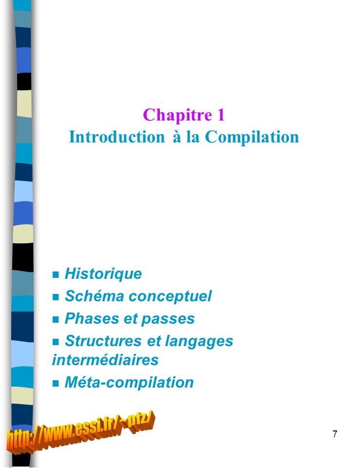 Chapitre 1 Introduction à la Compilation