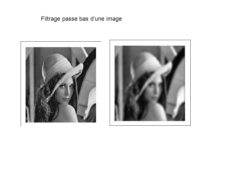 Filtrage passe bas d'une image
