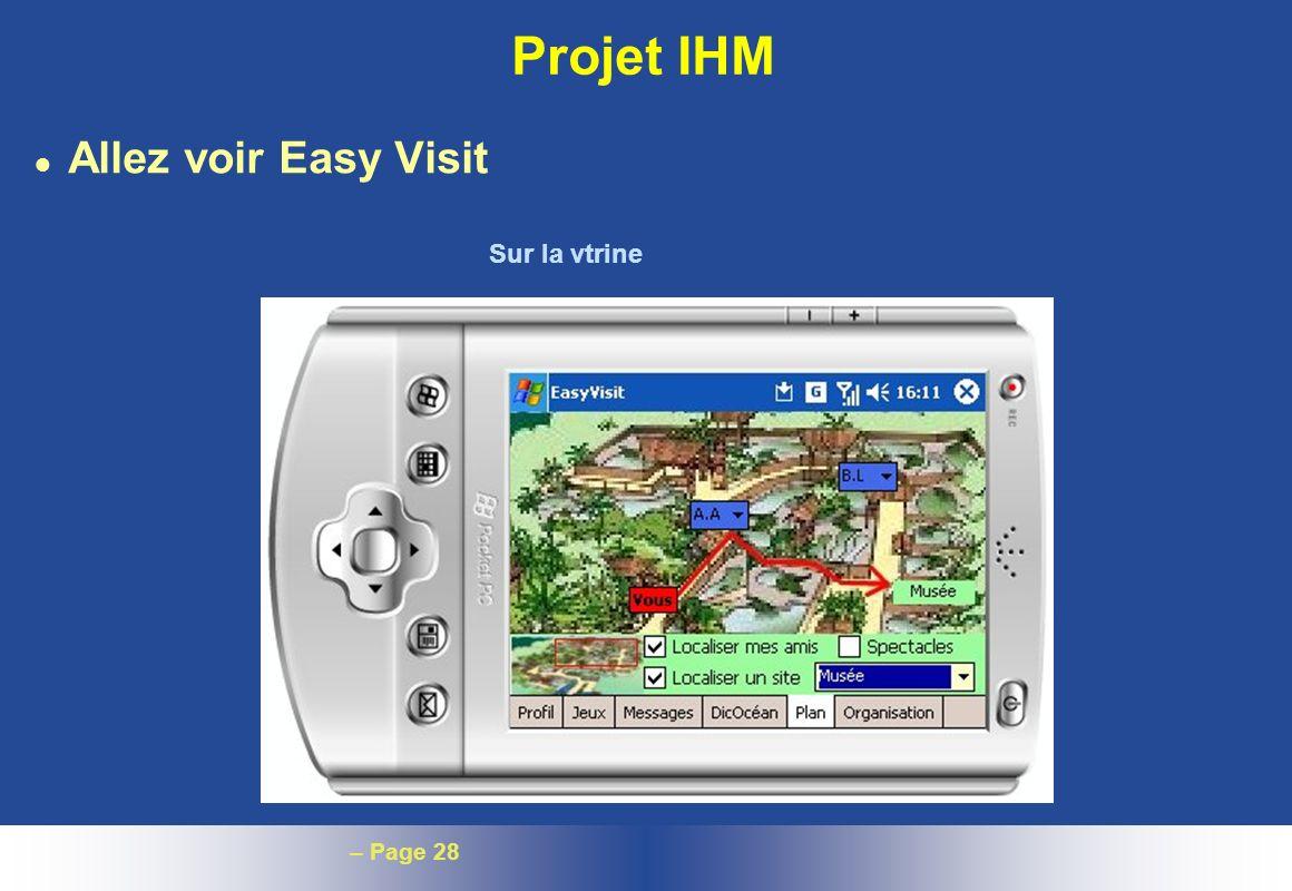 Projet IHM Allez voir Easy Visit Sur la vtrine