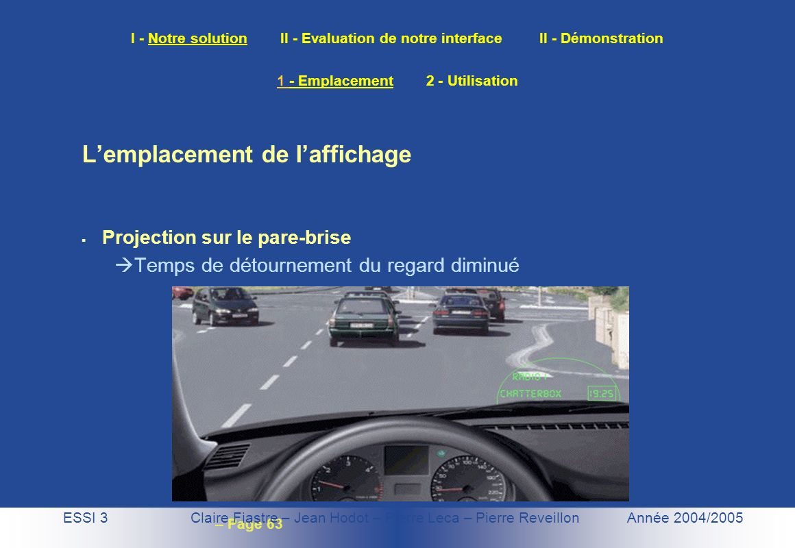 1 - Emplacement 2 - Utilisation